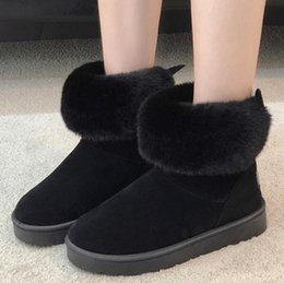 Women's Shoes Obedient Winter Women Boots Fashion Girls Ankle Snow Boots Ladies Plush Insole Thick-soled Waterproof Shoes For Woman Warm Botas Mujer Women's Boots
