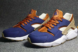 online store 3429a 8f09c 2018 Huarache ID Custom Breathe Running Shoes For Men Women,Woman Mens navy  blue tan Air Huaraches Multicolor Sneakers Athletic Trainers