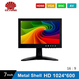 Tft Speakers NZ - 7 Inch HD CCTV TFT-LED Screen with Metal Shell & HDMI VGA AV BNC Connector for PC Multimedia Monitor Display Microscope etc Application