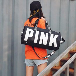 $enCountryForm.capitalKeyWord Canada - Pink Bags Women Handbag High-Quality Designer Handbag Travel Bags Sports Fitness Large Capacity Bag Crossbody Printing Shoulder Bag