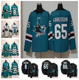 Joe thornton Jerseys online shopping - 2018 San Jose Sharks Erik Karlsson jersey Evander Kane Joe Thornton Logan Couture Brent Burns Hockey Jerseys