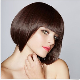 Dyeing Hair Black Australia - Short Pixie Cut hair None Lace wig Human Hair Bob Wigs Full Lace Black Wigs Can Be Dyed Short Cut Bob Natural Straight wig