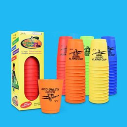 Used Toys Wholesale Australia - Magic Flying Cup Game Using The Competitive Sports Toys Hand speed sports Contest Creative Challenges Their Own Toys