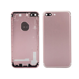 iphone back assembly NZ - Full Housing Back Door Frame Battery Cover With Side Buttons Complete Assembly For iPhone 5 5S SE 6 Plus 6s Plus 7 Plus With Free DHL Ship