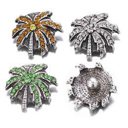 Hot Sale w456 Tree 3D 18mm 20mm Metal Snap Button For Bracelet Necklace Interchangeable Jewelry Women Accessorie Findings on Sale