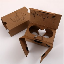 vr iphone plus Australia - DIY Google cardboard VR boxes 2.0 V2 glasses virtual reality 3D viewing google II glasses with head strap for iphone 8 7 plus Samsung S7 Hot