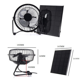 laptop cooling NZ - BUHESHUI 4.5W 6V Solar Powered Panel Iron Fan For Home Office Outdoor Traveling Fishing 6 Inch Cooling Ventilation Fan USB