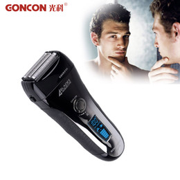$enCountryForm.capitalKeyWord NZ - Washable Electric Shaver Waterproof Rechargeable Electronic LCD Display 4 Blade Barbeador Hair Shaving Cleaner Cutting Machine