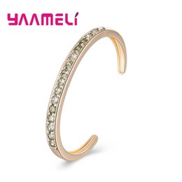 best bridal sets 2019 - YAAMELI New Fashion Bridal Wedding Engagement Cubic Zirconia Crowded Bangles 925 Sterling Silver Trendy Jewelry Best Gif