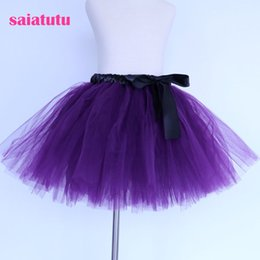 purple green tutu NZ - 2018 NEW dark purple tulle toddler children baby costume ball gown party dance wedding short pettiskirt tutu girl kids skirt