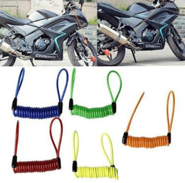 Springs Security Canada - 1.2m Motorcycle Bike Scooter Alarm Disc Lock Security Spring Reminder Cable Strong Anti-theft Protective Reminder Rope CCA9541 100pcs
