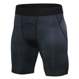 Discount compression short soccer - Men's Tights sport shorts Hot Sale Quick Dry Gym Sport Leggings Men's Pants Soccer Jogging Compression Tights
