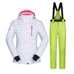 $enCountryForm.capitalKeyWord UK - dots printed female ski jacket suits warm cheap ski suit women snowboard jacket pants mountain skiing suits for women's