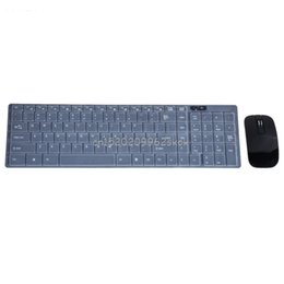 $enCountryForm.capitalKeyWord UK - Ultra Thin 2.4G Wireless Keyboard Dock Optical Mouse Set With Cover Kit Black Keyboard Mouse Combos #H029#