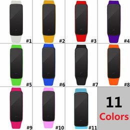 $enCountryForm.capitalKeyWord NZ - Colorful Waterproof Soft Led Touch Watch Jelly Candy Silicone Rubber Digital Screen Bracelet Watches Men Women Unisex Sports WristwatchD0582