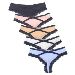 b652ddeefc 4pcs lot Sexy Thong Women Cute Panties Bandage G String G-string  Transparent Lace Underwear Women Girls Lingerie calcinha