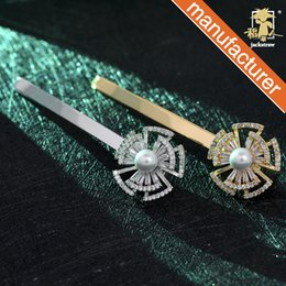 Korean Zircon Accessories NZ - Korean artificial zircon pure copper micro-inlay plating color-protection word clip side clip bangs clip hairpin hair accessories