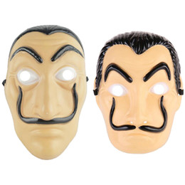 China Money Heist The House of Paper La Casa De Papel Dali Mask for Men Halloween Carnival Women Salvador Dali Face Masks cheap mask house suppliers