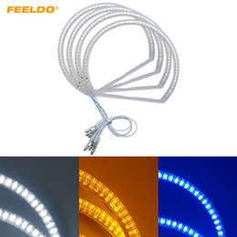 Bmw angel eye e46 online shopping - FEELDO Set Car LED Halo Rings Angel Eyes DRL Head Lamp For BMW E46 Vorfacelift