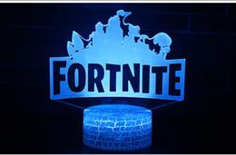 17 Styles Fortnite LED-Leuchten Battle Royale Digital Schreibtischlampe Schreibtischuhr Fortnite Game Lampenschirme