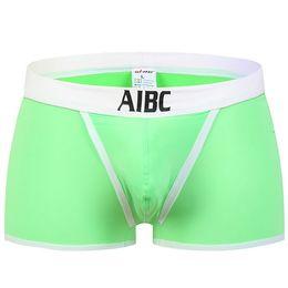 Back To Search Resultsunderwear & Sleepwears Men's Underwear Bright Fashion Sexy Boxer Trunks Mens Soft Underpants Sexy Bulge Pouch Underwear Open Hip Male Sex Shorts