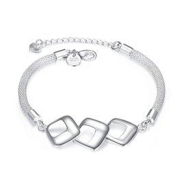 $enCountryForm.capitalKeyWord Australia - Three or four party Bracelet sterling silver plated bracelet ; Top sale fashion men and women 925 silver bracelet SPB359