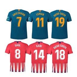 6585a4066 2019  7GRIEZMANN home Away Soccer Jersey 18 19 KOKE Football Shirt  Customized SAUL DIEGO COSTA Camiseta futbol LEMAR Maillot de foot