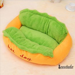 $enCountryForm.capitalKeyWord NZ - Cute Hot dog pet bed Special for your lovly dog & cat add Green 100% cotton mat Comfortable sleeping with nest Free shipping