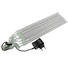 1set Christmas Waterproof LED Meteor Shower Lluvia luces 20 cm 30 cm 8 tubos 100 V 240 V luz con UE EE.UU. en venta