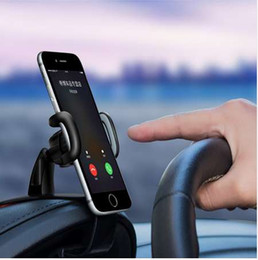 car style cell phones UK - YASOKO Car Phone Holder Universal Car Dashboard Cell Phone GPS Mount Holder Stand HUD Design Phone Cradle Clip Car-styling