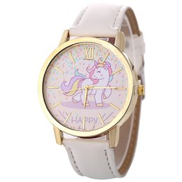 Watches 2019 New Style Unicorn Watch Childrens Watch Carton Rainbow Animal Kids Girls Leather Band Analog Alloy Quartz Watches Wristwatches Regular Tea Drinking Improves Your Health