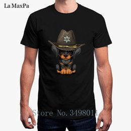 $enCountryForm.capitalKeyWord Australia - Cheap T Shirt Cute Doberman Puppy Dog Sheriff Men's Tshirt Clothes O-Neck Fitness Short Sleeve T-Shirt Man S-3xl Hip Hop