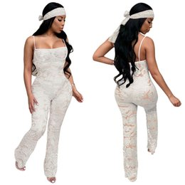 79ce9dfd37d White rompers online shopping - Women jumpsuits s xxl Summer new sexy  suspender lace jumpsuit White