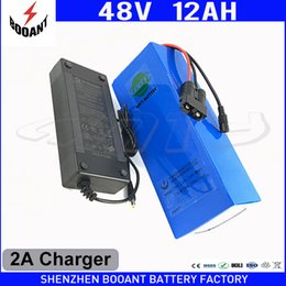 $enCountryForm.capitalKeyWord Canada - Rechargeable Lithium Battery 48V 12Ah Li-ion Battery 48V For 1000W Bafang Motor With 2A Charger eBike Battery 48V Free Shipping