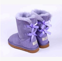 China 2017 winter Australia Classic snow Boots High Quality tall boots real leather Bailey Bowknot women's bailey bow Knee Boots shoes suppliers