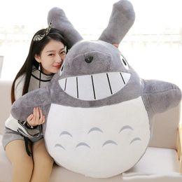 big soft toy totoro 2019 - Pop Soft Anime Totoro Plush Toy Big Stuffed Cartoon Grey Totoro Doll 2 Colors Kids Gift Decoration 39inch 100cm discount