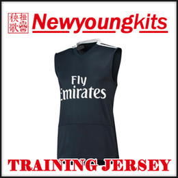 $enCountryForm.capitalKeyWord Australia - 2018 19 Real Madrid Jersey 18 19 black squad Sleeveless Training Jersey Football uniforms BENZEMA bale ASENSIO MODRIC soccer shirt