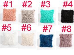 Discount cooling car seats - 8 colors home decor soft waist car seat fur plush cushion cover throw fashion pillow cases