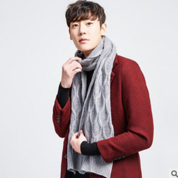 fc263be9ba7 Korean Knitted Scarf NZ - Cashmere scarf men and women autumn and winter  wool warm -