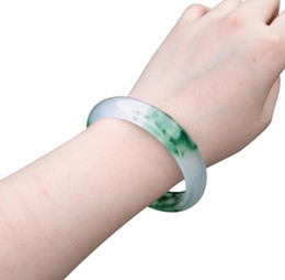 Dark Pink Bracelet NZ - Natural jade bracelet female floating flower emerald dark jade bracelet female