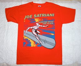 Black s guitar online shopping - JOE SATRIANI SURFING WITH THE ALIEN RED T SHIRT GUITAR GOD Funny Unisex Casual tee gift