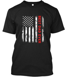 Best Fashion T Shirts Canada - Best Dad Ever American Flag - Wholesale Cool Casual Sleeves Cotton T-Shirt Fashion New T Shirts Unisex Funny Tops Tee Tagless Tee T-Shirt