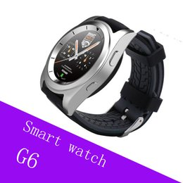 g6 smart watch NZ - G6 Bluetooth Smart Watch For Android IOS System Wireless Smart Watch waterproof Support Pedometer Sleep Monitor with Retail Package