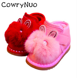 Chinese  Insole 11.5-13.5cm Warm Snow Baby Toddler Shoes Soft Bottom Cartoon Rabbit Princess Boot manufacturers