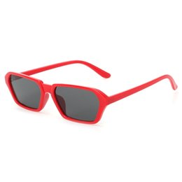cd2e79da93e Geometric Fashion Brand Designer UV400 Women Men Eyewear Small Plastic  Frame Sunglasses