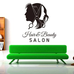 window stickers Australia - Hair Salon Barber Shop Wall Decal Art Vinyl Sticker Interior Window Decor DIY Hair Beauty Salon Wall Sticker