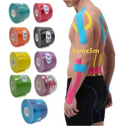$enCountryForm.capitalKeyWord NZ - 14 Color Kinesio Tape Muscle Bandage 5cm x 5M Sports Kinesiology Tape Roll Strain Muscle Sticker Cotton Elastic Adhesive