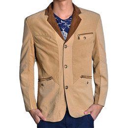 d486c0a0af6 H 2017 Blazer de los hombres de moda traje de pana otoño invierno Blazer  Slim Fit Masculino Blazer Business Casual chaqueta de traje masculino L