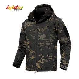 Army combAt coAt online shopping - Shark Skin V4 Soft Shell Tactical Jacket Men Waterproof Army Fleece Coats Multicam Camouflage Combat Windbreakers XL