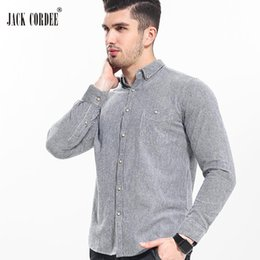 High Quality Mens Shirts Canada - JACK CORDEE High Quality Shirt Men Soft Cotton Long Sleeve Mens Dress Shirts 2017 Casual Slim Fit Male Social Striped Shirt